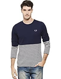 Rigo Men's Cotton Full Sleeve Stripe Tee