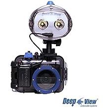 Pack Cámara Nikon A300 rojo Con Carcasa Submarina Subwoofer DeepView y Flash