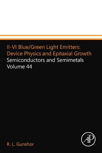II-VI Blue/Green Light Emitters: Device Physics and Epitaxial Growth: Semiconductors and Semimetals Volume 44