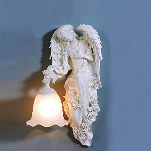 XQY Home Decoration Wandlampe, Hotel Cafe Restaurant Dekoration Lampen , Angel Sculpture Wandlampe Schlafzimmer Nacht Wohnzimmer Hintergrund Wand Kreative Einfache Gang Treppen LED Dekoration Athena -