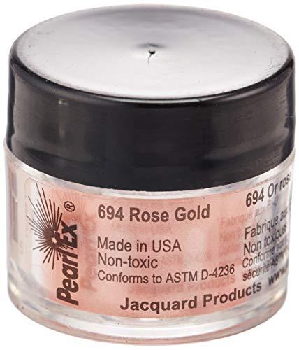 Jacquard Products Ex Puder-Pigmente, Perle, 3g, Roségold, Acryl, Mehrfarbig -