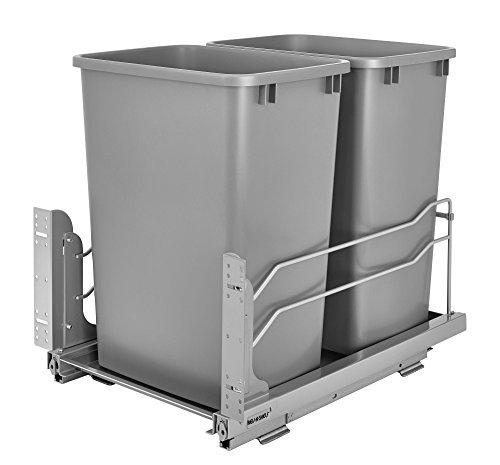 Rev-A-Shelf - 53 Wc-1835scdm-217 - Double 35 QT. extractible Argent Collecteur avec Frein de Diapositives