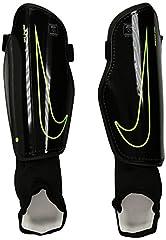 Idea Regalo - Nike Charge 2.0, Parastinchi Unisex - Adulto, (Black/Black/Volt), L