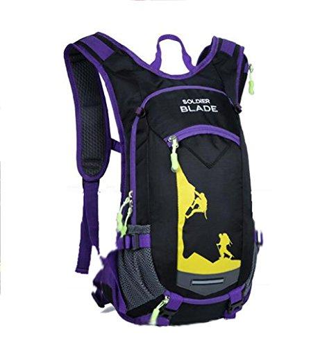SZH&BEIB Outdoor-Rucksack wasserdicht Polyester für das Reiten Tasche Klettern Wasserbeutel wandern E