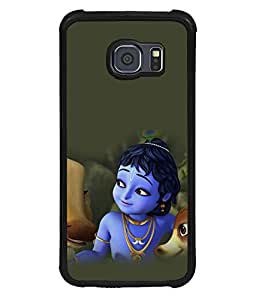 printtech Lord God Krishna Cartoon Back Case Cover for Samsung Galaxy S6 Edge::Samsung Galaxy Edge G925