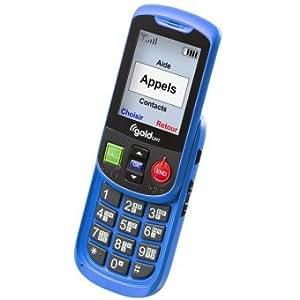 Téléphone portable parlant GoldGmt Alto II Bleu