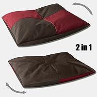 BedDog BONA 2en1 rojo/negro XXXL aprox. 140x125cm colchón para perro, 6 colores, cama para perro, sofá para perro, cesta para perro