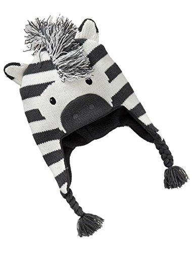 Kleinkind Baby Zebra Earflap Beanie Mütze Zebra Beanie Baby