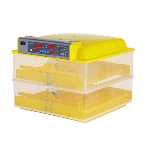 BuoQua Brutapparat für Hühner 112 Eier Vollautomatisch Brutmaschine mit Zeitsachaltuhr Automatische Inkubator Geflügel Thermometer Brutmaschine
