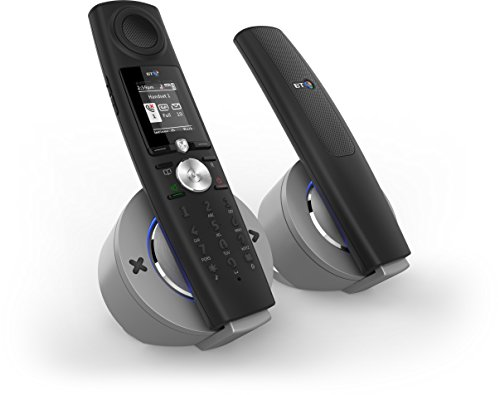 BT 9500 Halo Nuisance Call Blocking Cordless Home Phone with Bluetooth and Answer Machine - Black, Twin Pack