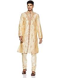 Manyavar Men's Blended Kurta & Churidar Set (S952240)