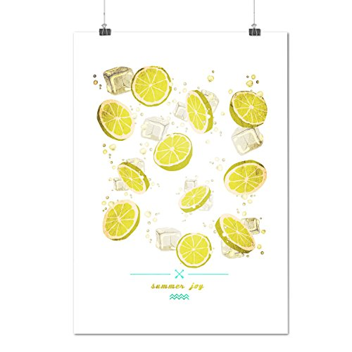 juicy-summer-joy-ice-cube-lemon-matte-glossy-poster-a2-60cm-x-42cm-wellcoda