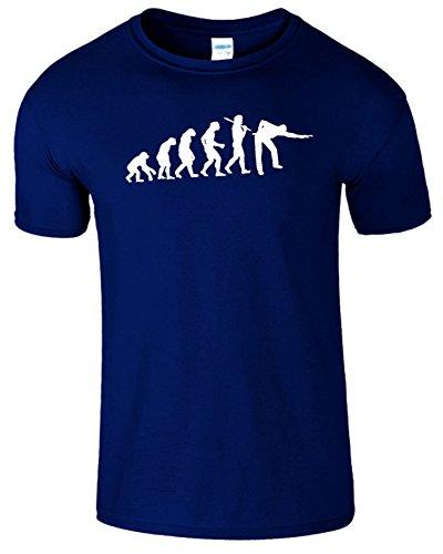 Evolution Of Snooker Herren T Shirt Schwimmbad Komisch Spiel Marine Blau / Weiß Design