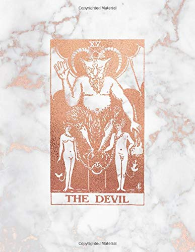 The Devil: Bullet Journal    8.5 x 11 A4 Notebook   Marble and Rose Gold Design - Dot Grid Notebook (Marble and Rose Gold - Dotted Grid Notebook, Band 1)