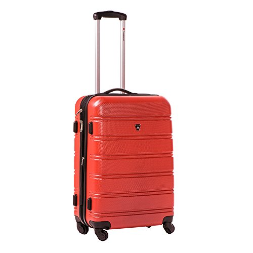 Travelhouse ABS Hard shell Travel Trolley Suitcase 4 wheel Luggage set Hand Luggage (3 PCS, Red)