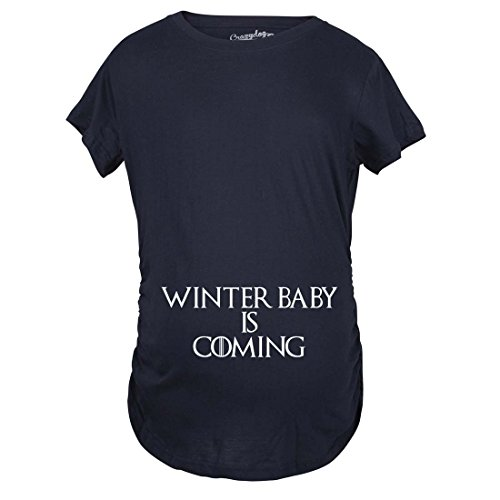 Crazy Dog Tshirts - Maternity Winter Baby is...