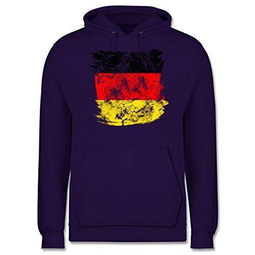 EM 2016 - Frankreich - Deutschlandflagge Pinsel - Männer Premium Kapuzenpullover / Hoodie Lila