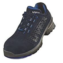 Uvex 1 Work Shoe - Safety Trainer S1 SRC ESD - Blue - Size 14