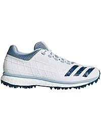 Adidas DB3344 - Zapatillas de críquet de Lona para Hombre Blanco Blanco