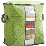 Culater® Ropa de cama con cremallera bolso caja de almacenamiento no tejidas (Verde)