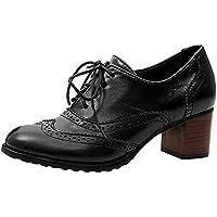 Zapatos del alto talón con correa para mujer,Sonnena Zapatos huecos de mujer de moda Zapatos sencillos de boca baja Zapatos de tacón grueso