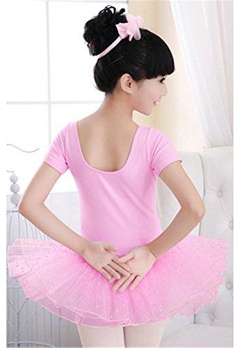 Robe de danse pour enfants / Ballet d 'entraînement pour enfants tutus courte pink