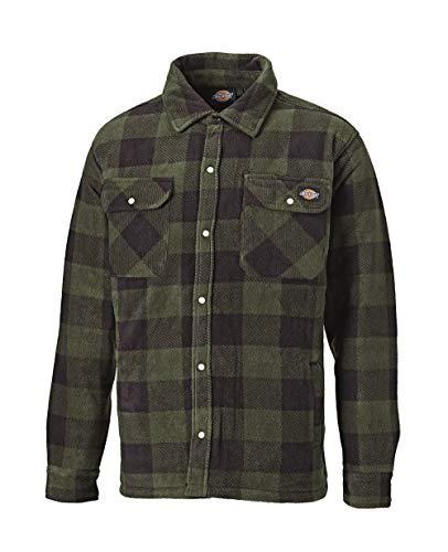 Camicia Termica Dickies Portland SH5000 in Vari Colori e Taglie,Camicia da Boscaiolo/Camicia da Lavoro/Giacca Autunnale/Giacca Invernale (Verde, M)