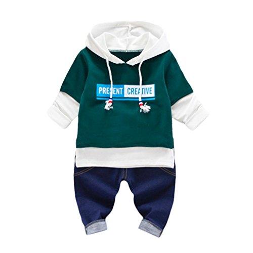 Kleidung Set Kolylong® 1 Set ( 0-24 Monate) Baby Jungen Mädchen Herbst gedruckt Anzug (Tops + Hose) T-shirt Sweatshirt Outfits Kleiderset (90CM (12-18 Monate), (Monat Alten Kostüme 12 Baby)