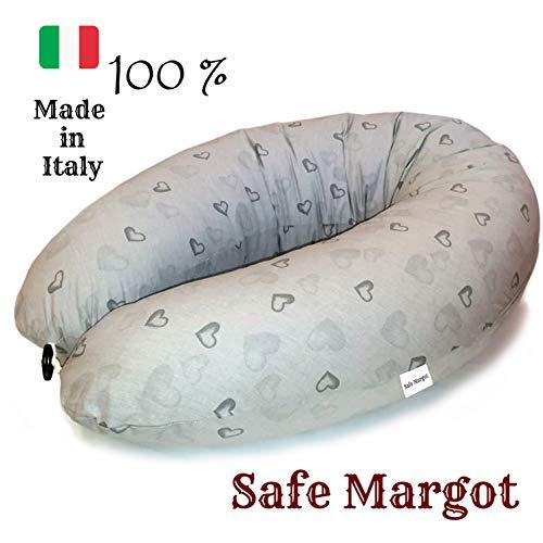 Cuscino Allattamento Neonato2°Generazione Cuscino Maternità Gravidanza Mamma Paracolpi Lettino Bambino Imbottitura Fiocchi Di Fibra Federa 100{5fb007d4e4a140066d46f894a37ec6b1f3f18ab9d82f578a11fd403810652354}cotone Anallergico Antisoffoco Antireflusso Made In Italy