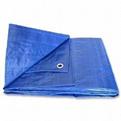 Shield Products HDPE Tarpaulin 150 GSM Size - 30Ft X 21Ft = 630 Sq.Ft Blue