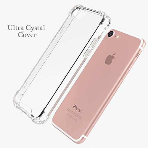 Hülle für iPhone 8 iPhone 7, POOPHUNS Handyhülle für iPhone 7/8, Staubschutz, Stoßdämpfend, Anti-Scratch, Premium Kratzfest PC Case für iPhone 8 iPhone 7(4,7 Zoll) Silikon Hülle(Transparent)