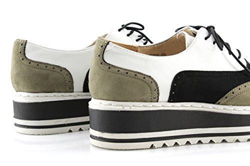 MODELISA , Chaussures de ville à lacets pour femme Kaki