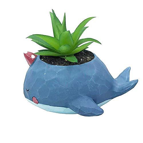 , Cartoon Tier Wal Elefant Krokodil Form Kaktus Pflanze Blumentopf Garten Schreibtisch Dekoration Container ()