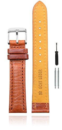 Eichmüller Uhrenarmband 20mm Leder in braun für Damen und Herren