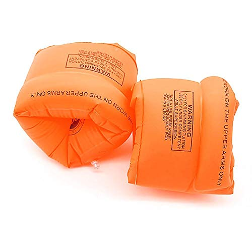 Haiyemao Traje de baño Brazo Flotante Bandas inflables para Brazo Mangas flotantes Equipo de natación Brazaletes de Tubo para niños y Adultos (Naranja) Traje de baño para Nadadores
