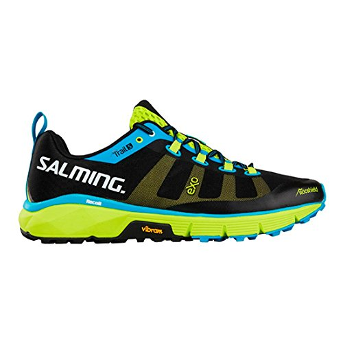 Salming Trail 5 Shoe Black Fluo Green Schwarz