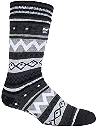 52f6109ee Heat Holders - Mens Soul Warming Thick Winter Nordic Patterned Non Slip  Thermal Slipper Socks with