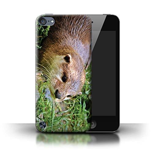 eSwish Hülle/Case für Apple iPod Touch 5 / Entzückender Otter Zoo Muster/Süß Baby Tier Fotos Kollektion (Otter-hülle Für Ipod 4)