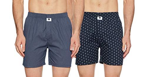 Amazon Brand- Symbol Men's Printed Boxers (SYMBXS9_3564_Multicolor_Large)
