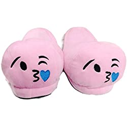 warm chappal hot home sleeper Pink open slipper Emoji Slipper Free Size back open Indoor Slipper Funny Soft Plush For Adults Kids Teens Bedroom Smiley Poop Comfy Socks Womens Girls Non-Skid Footpads