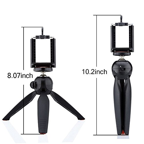 UNIGEAR YT-228 Mini Tripod (Black, Supports Up to 1500 g) Monopod Kit, Monopod, Tripod, Tripod Kit(Black, Supports Up to 500 g) 3