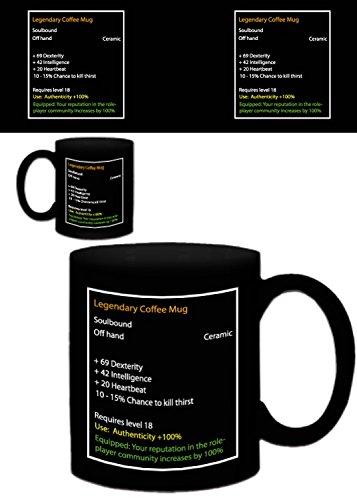 1art1 Gaming, Legendary Coffee Mug Foto-Tasse Kaffeetasse (9x8 cm) Inklusive 1x Überraschungs-Sticker