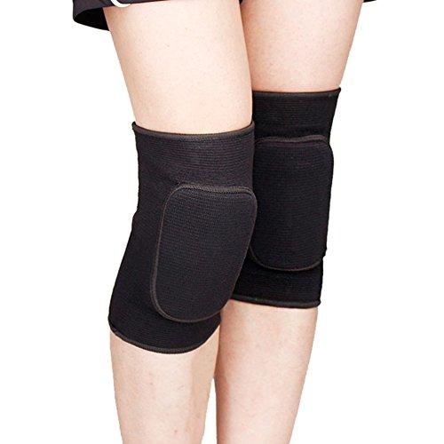 ITODA Knieschützer Kinder Knieschutz Sport Kniebandage für Junge Mädchen Elastische Kniestütze Knieschoner mit Sicherheit Schwamm Knieprotektor Unterstützung für Rollschuhe Tennis Radsport Schwarz M