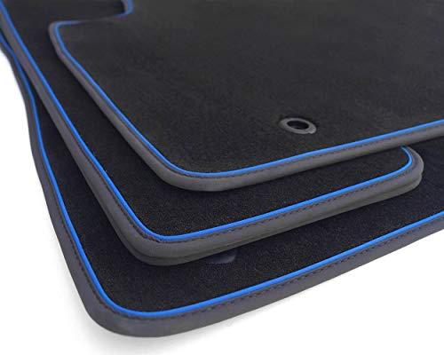 kh Teile Fußmatten RX 450h Original Premium Qualität Autoteppich F-Sport Tuning Velours 4X, Zierband Blau