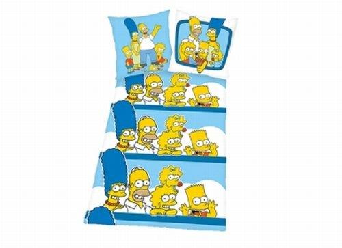 THE SIMPSONS - microfaser bettwäsche - kissen mit WENDEMOTIV - mit reissverschluss - bügelfrei - von HERDING 1 Kissenbezug: 80 x 80 cm (Wendekissen) 1 Bettbezug: 135 x 200 cm (Simpsons Bettwäsche)
