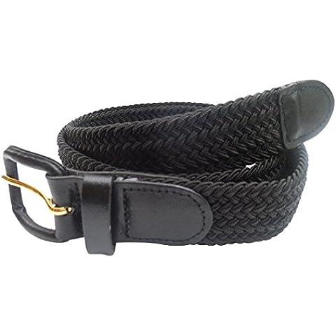 Streeze Cintura Uomo Donna Elasticizzata Intrecciata a Ragnatela con Fibbia in Pelle Taglie Small - 3XL