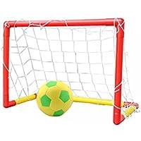 TOYMYTOY Fußballtor Set Kinder Fußball Mini Tore tragbar für Fußball Training 57 x 41 x 31 cm