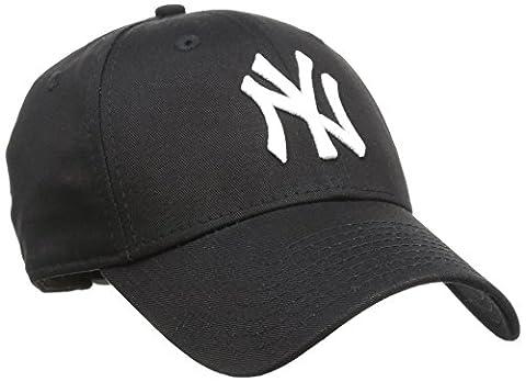 New Era Men's MLB Basic NY Yankees 9Forty Adjustable Baseball Cap, Black, One Size