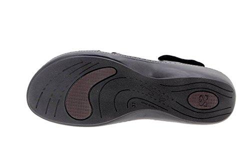 Scarpe donna comfort pelle PieSanto 1813 Sandali Plantare Estraibile larghezza speciale Negro