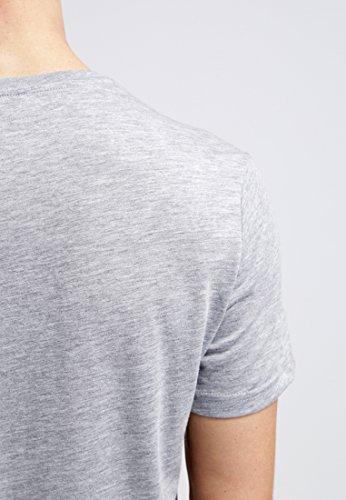 YOURTURN T-Shirt Herren Weiß o. Grau, gemustert